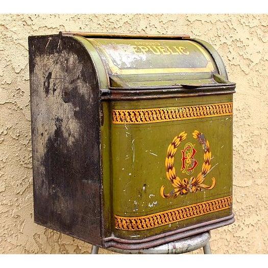 Antique Tin Coffee Container | Chairish