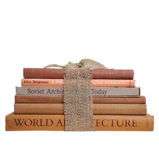 World Architecture Coffee Table Stack, S/6 For Sale