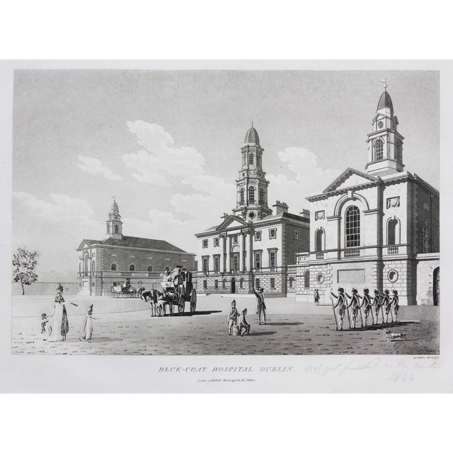 Black Engraved Views of Dublin Ireland by James Malton - Set of 25 For Sale - Image 8 of 13