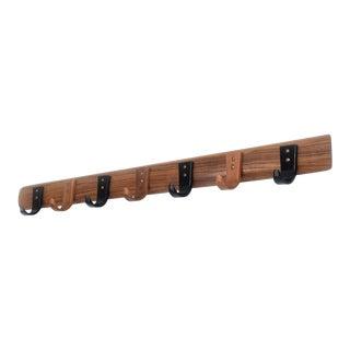Mid-Century Modern Wood Coat Rack