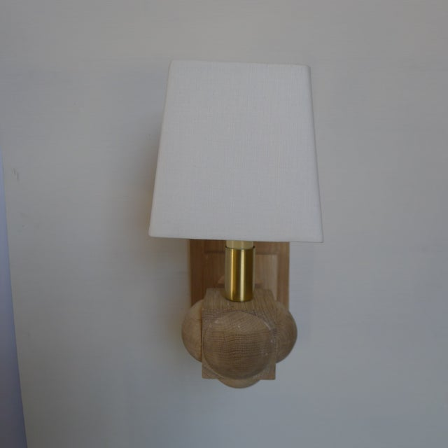 Metal Foursquare Sconce by Paul Marra For Sale - Image 7 of 11