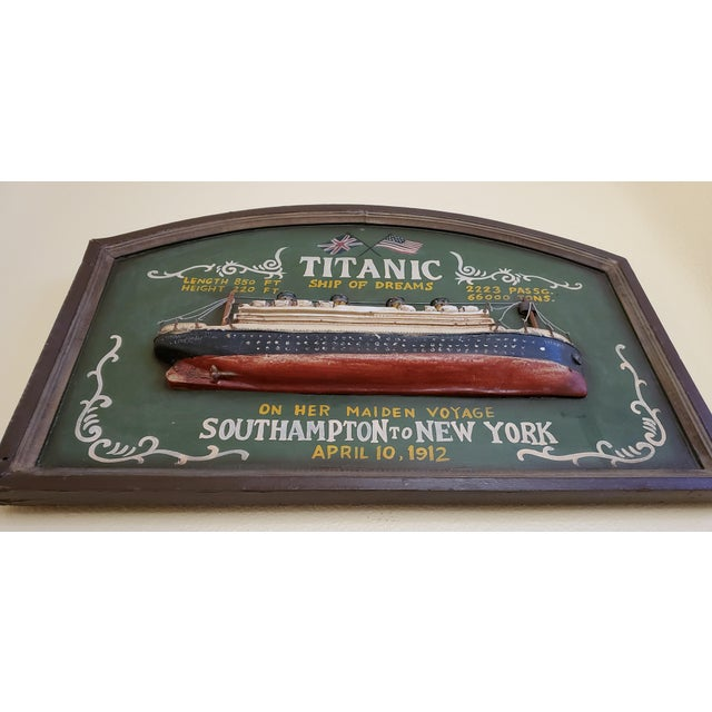 """Original Early 20th Century Mixed Media Art """"Remember the Titanic"""" For Sale - Image 11 of 13"""
