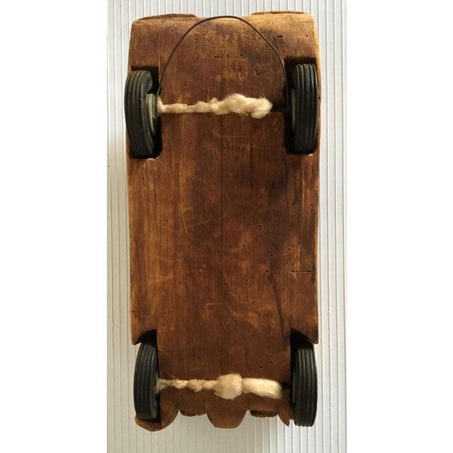 Antique Wooden Hand Carved Model Car - Image 11 of 11