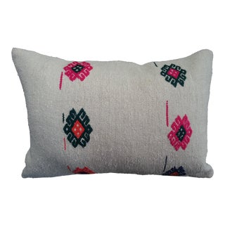 Handmade Lumbar Hemp Kilim Pillow Case