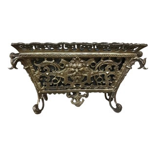 19th Century French Bronze Jardiniere For Sale