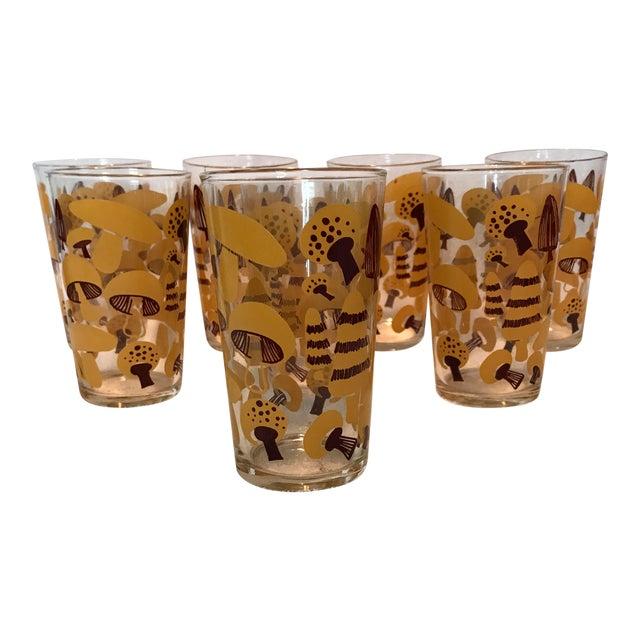 Mid-Century Modern Mushroom Glasses - Set of 8 - Image 1 of 10