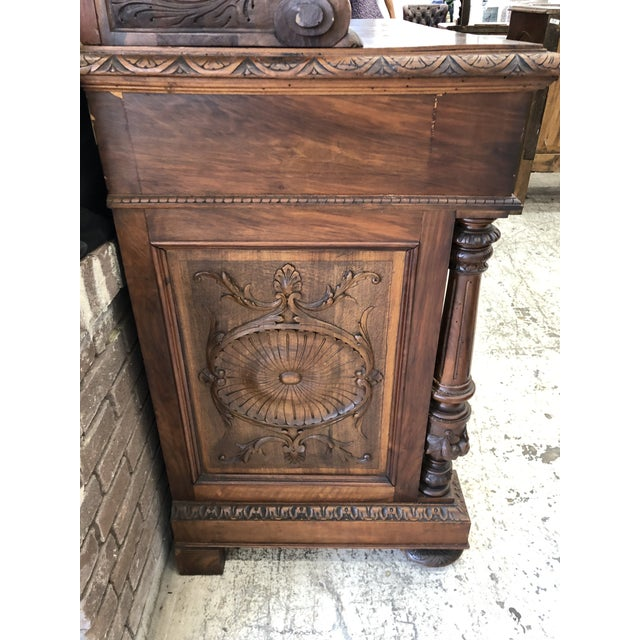 Mid 19th Century 19th Century St. Hubert French Louis XIII Carved Walnut Buffet For Sale - Image 5 of 11