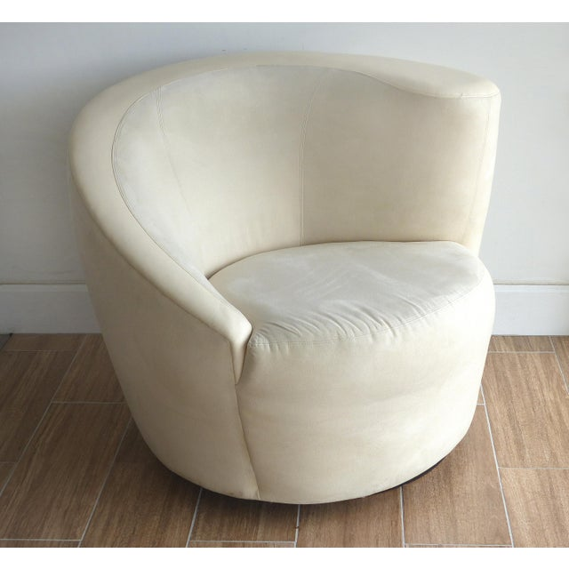 Mid-Century Modern Nautilus Chair & Ottoman by Vladimir Kagan for Directional-Set of 2 For Sale - Image 3 of 13