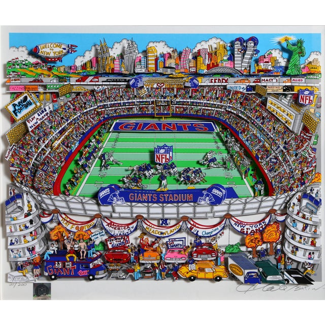"2000 - 2009 ""Giants"", 3-D Serigraph of Giants Stadium by Charles Fazzino For Sale - Image 5 of 6"