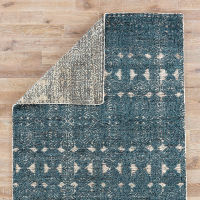 Jaipur Living Abelle Hand-Knotted Medallion Teal/ White Area Rug - 2′ × 3′ For Sale - Image 4 of 6