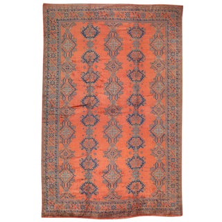 "Antique Turkish Oushak Rug - 12' x 17'1"" For Sale"
