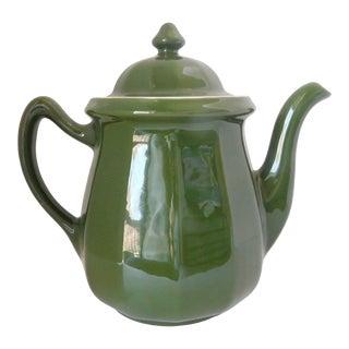 Vintage 1930s Mid Century Hallmarked Hall Pottery Coffee/Tea Pot For Sale