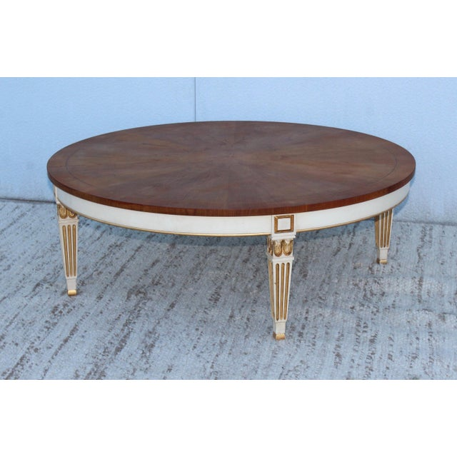 Stunning large 1950s giltwood coffee table by Baker.