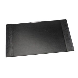 Traditional Ralph Lauren Printed Crocodile Embossed Leather Desk Blotter For Sale