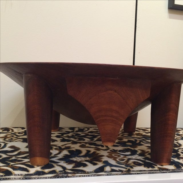 Mid-century Footed Wood Bowl - Image 4 of 7