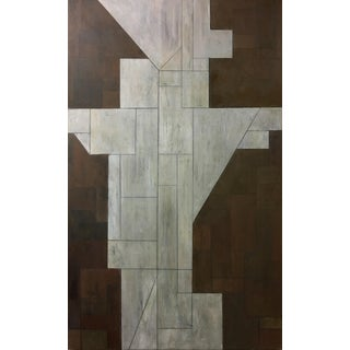 """Large Geometric Abstract """"Trans Angel"""" Painting For Sale"""