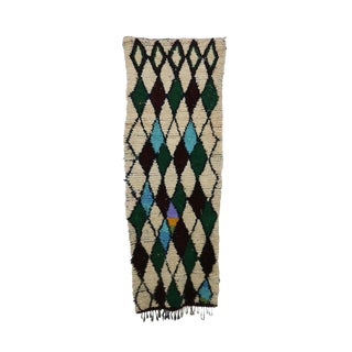 1970s Vintage Azilal Moroccan Rug - 3′1″ × 8′2″ For Sale