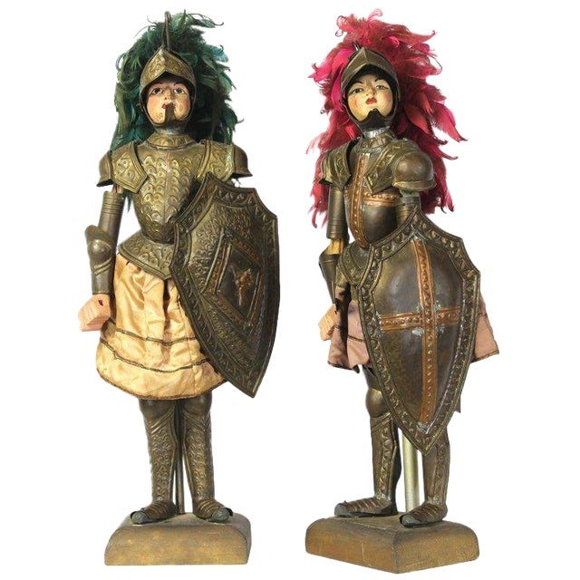 Pair of Mid-19th Century Sicilian Marionettes For Sale