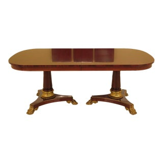 Kindel NeoClassical Style Mahogany Dining Room Table For Sale