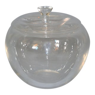 Vintage Crystal Clear Art Glass Apple by Elsa Peretti for Tiffany For Sale