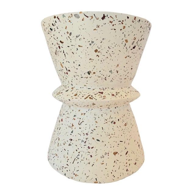 Boho Chic Boho Chic Terrazzo End Table For Sale - Image 3 of 6