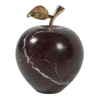 Stone Apple W/ Brass Stem For Sale