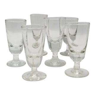 Antique French Absinthe Glasses, Set of 6 For Sale