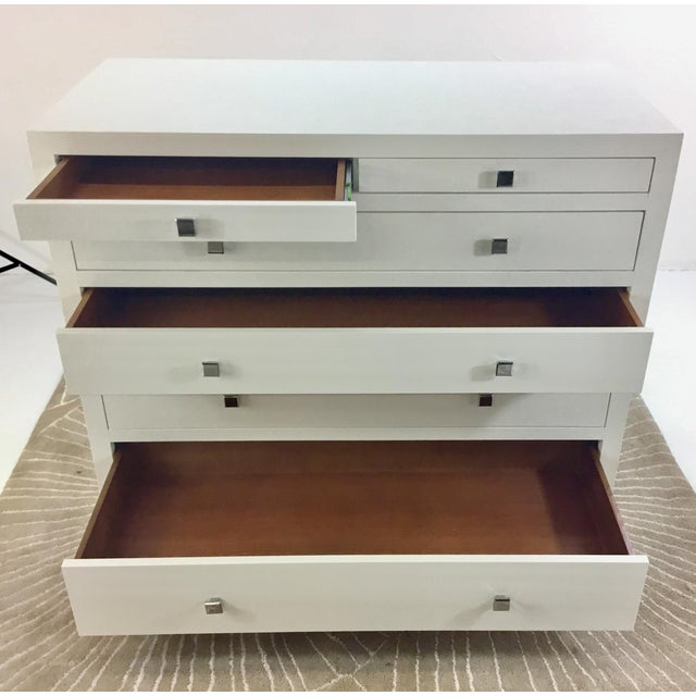 Contemporary Bungalow 5 White Frances Six Drawer White Chest For Sale - Image 3 of 9