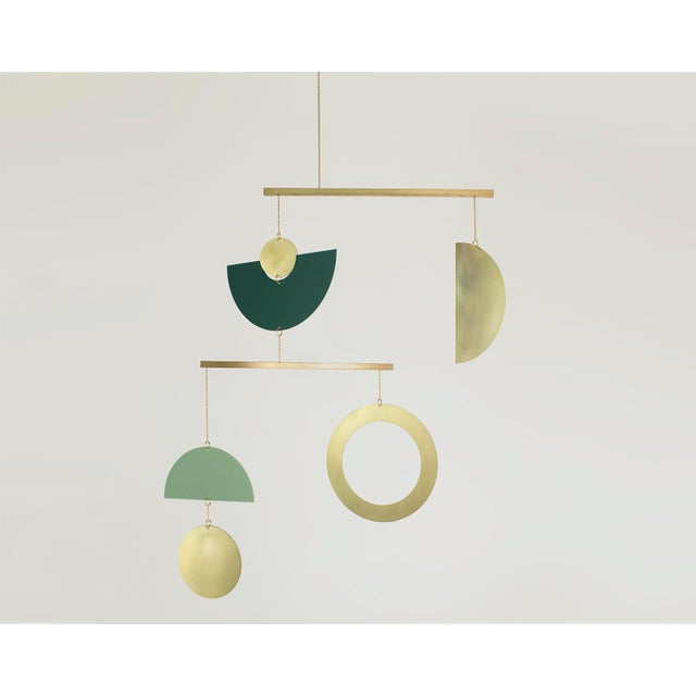Contemporary Corie Humble Mobile No. 23 Green For Sale - Image 3 of 4