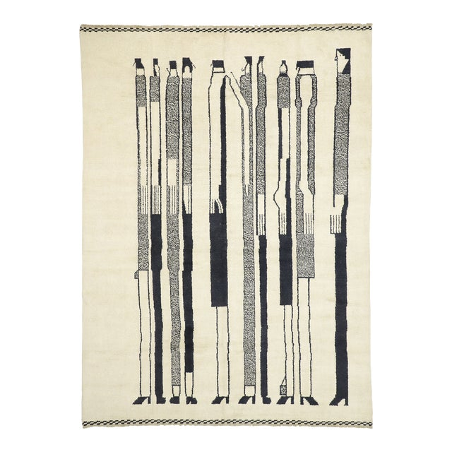 Contemporary Moroccan Rug Inspired by Alberto Giacometti - 10'00 X 13'08 For Sale