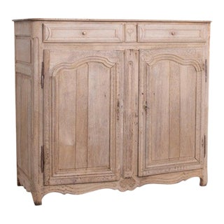 Late 19th Century French Heart Bleached Oak Buffet For Sale