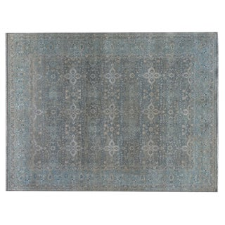 Stark Studio Rugs Traditional Sanborn Sage 100% Wool Rug - 9′10″ × 14′ For Sale