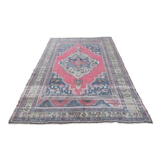 "Medallion Vintage Turkish Oushak Rug - 9'5"" x 5'8"""