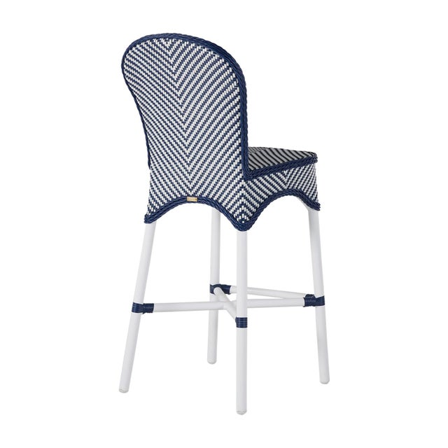 Savoy Bar Stool in Blue For Sale - Image 4 of 6