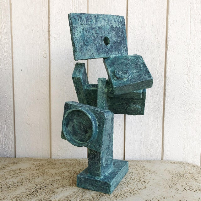 """Abstract Cubist Sculpture """"Dancer"""" by Bill Low For Sale - Image 10 of 13"""