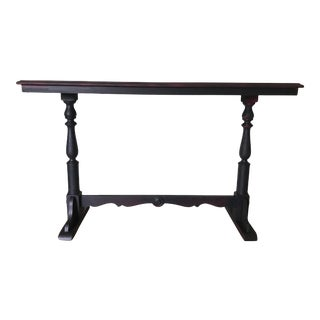 Black Buffet W/Stenciled Top For Sale