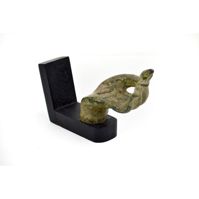 Antique Bronze Thai Buddha Hand Sculpture - Image 7 of 7