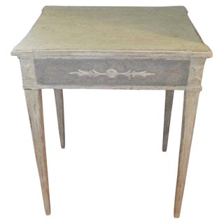 Decorated Swedish Side Table For Sale