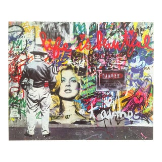 "Mr. Brainwash "" Life Is Beautiful "" Authentic Lithograph Print Pop Art Poster For Sale"