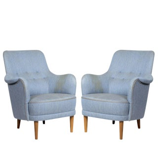 "Pair of Carl Malmsten ""Samsas"" Chairs For Sale"