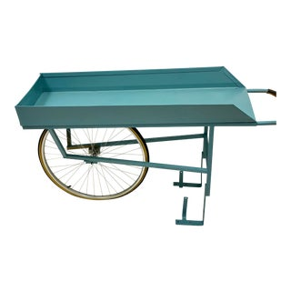 Mid-Century Painted Flower Garden Cart For Sale