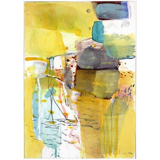 """Original Abstract Painting, """"Rock Castle"""" by Greet Helsen For Sale"""
