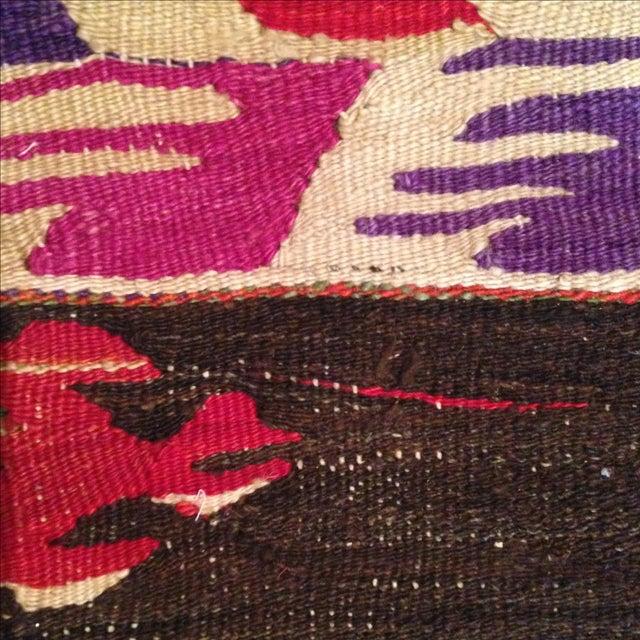Vintage Striped Kilim Pillow Case - Image 4 of 5
