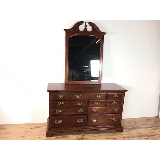 Wood Antique Georgian Style Dresser For Sale - Image 7 of 7