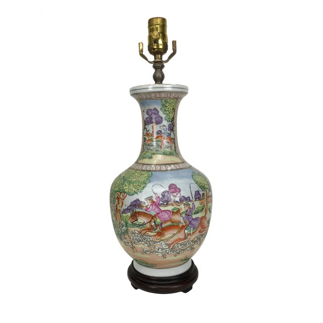 20th Century Japanese Ceramic Table Lamp For Sale - Image 4 of 4