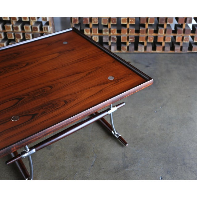 Jens Quistgaard Rare Pair of Rosewood Tables for Nissen Denmark, 1960 For Sale In Los Angeles - Image 6 of 13