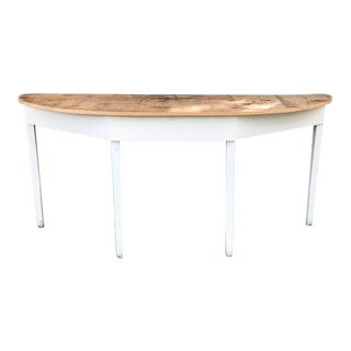 Handcrafted Demi-Lune Console Table