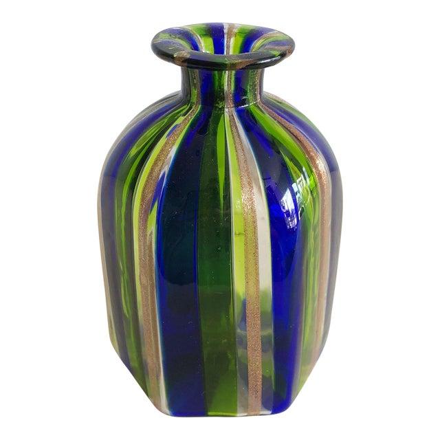 L Campanella Murano Art Glass Vase For Sale