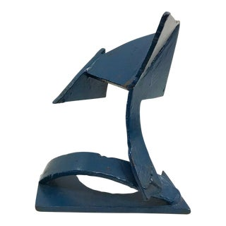 Cobalt Blue Welded Iron Sculpture