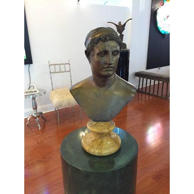1906 Cesar Sab De Angelis Fils Naples Bronze Bust - Image 2 of 10